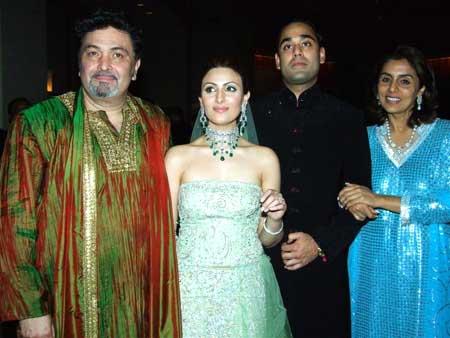 Rishi, Riddhima, Bharat Sahni and Neetu