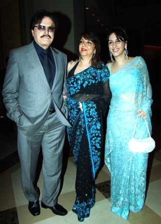 Sanjay and Zarine Khan with Farah Khan