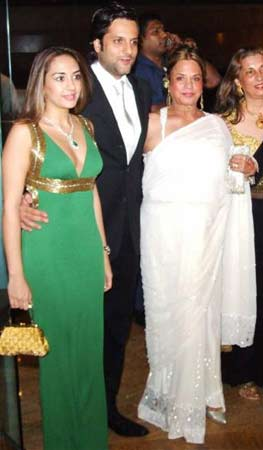 Natasha Madhvani, Fardeen Khan and Sundari Khan