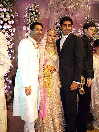 Couple with Abhishek Bachchan
