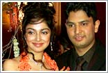 The stunning couple: Divya and Bhushan