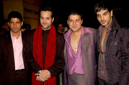 Bro and buddies: Farhan Akhtar, Fardeen Khan, Sajid Khan, Zayed Khan