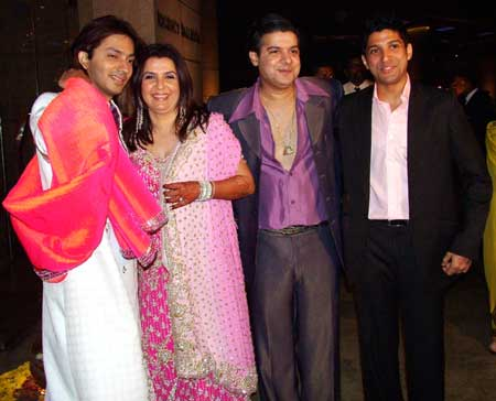 Shirish, Farah, Sajid and Farhan