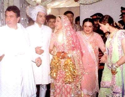 Karishma and Sanjay Kapur with Babita