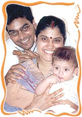Renuka Shahane and Ashutosh Rana with Shauryaman