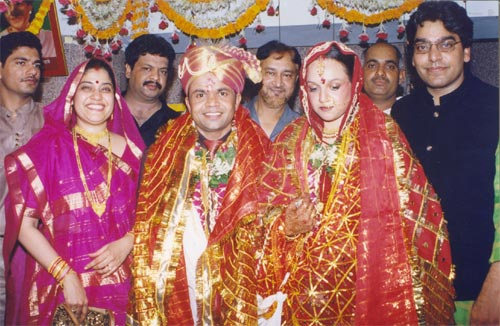 Radha and Rajpal Yadav with Renuka and Ashutosh Rana