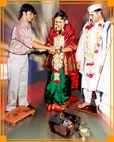 The role of a brother in a Hindu wedding