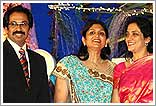 Uddhav and Rashmi with Patels