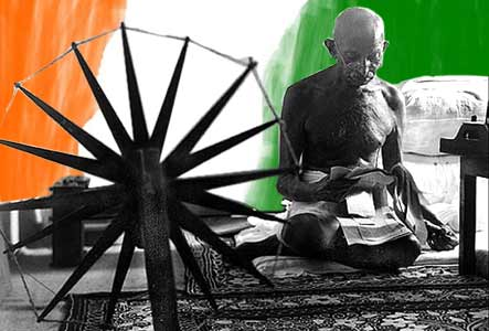 Image result for gandhi and charkha