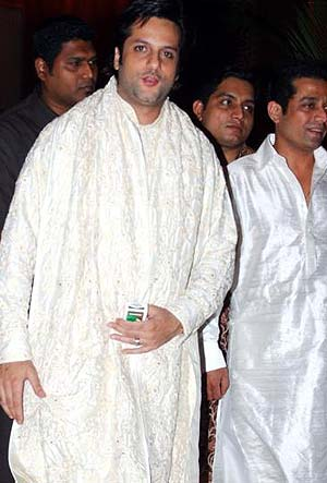 Fardeen Khan in a white kurta