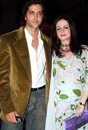 Hrithik with Suzanne join the sangeet