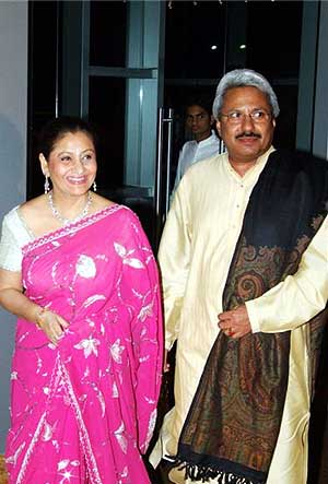 Maya with husband Sunil Alagh