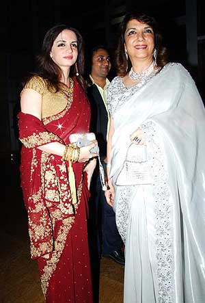 Suzanne Roshan with Zarine Khan