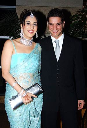 Faraah Khan with husband DJ Aqeel