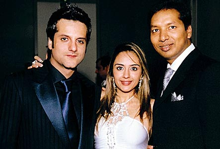 Fardeen and Natasha with a friend