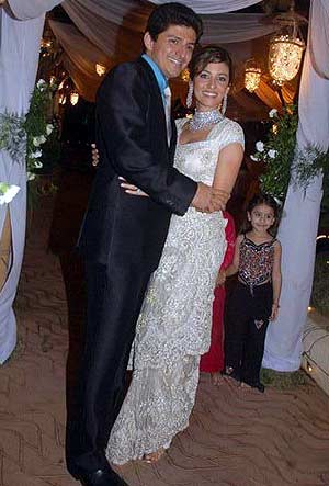 Perizaad Zorabian with husband Boman Irani