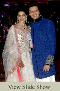 Riteish and Genelia's Sangeet Ceremony