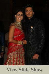 Riteish and Genelia's Reception
